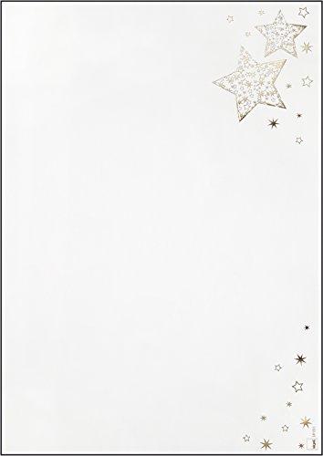 SIGEL DP051 Briefpapier Weihnachten mit Goldprägung, Golden Glow, A4, 100 Blatt