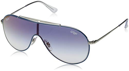 Ray-Ban Unisex-Erwachsene 0RJ9546S Sonnenbrille, Blau (Silver On Top Light Blue), 45
