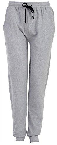 MG-1 Herren Jersey Jogginghose Pyjamahose Schlafanzughose Homewear uni FARBWAHL Grau