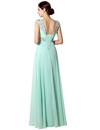 Sarahbridal Damen Lang Chiffon Ballkleid Herzenform Abendkleider Brautjungfernkleid SSD179 Orange