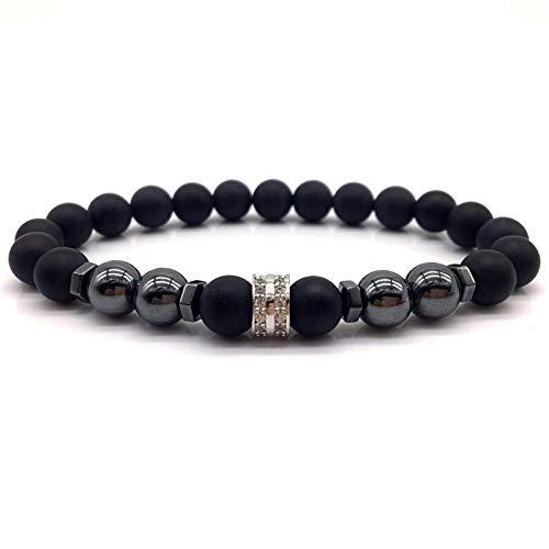 Armband Armreif,Schmuck Geschenk,Men Bracelet Simple Classic Bracelet Men Stone Bead Charm Bracelets & Bangles for Men Jewelry Gift - Armband Loom Organizer