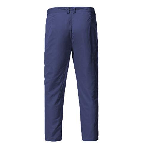 ren Jogging Hose Sport Kordelzug Tasche Hose Super Verschleißfest Overall Hose Jeans Jeanshose Pants Jeans Surface Herren Jogging Denim Haremshose Baggy Pants[Marine,L] ()