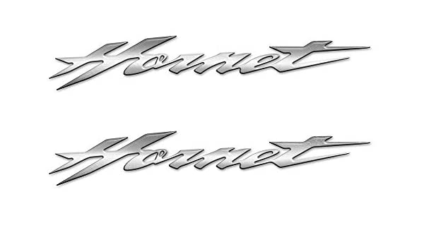 Argent 2 Autocollants-Stickers R/ésine 3D Gel /Écrit Hornet Compatible Moto Honda