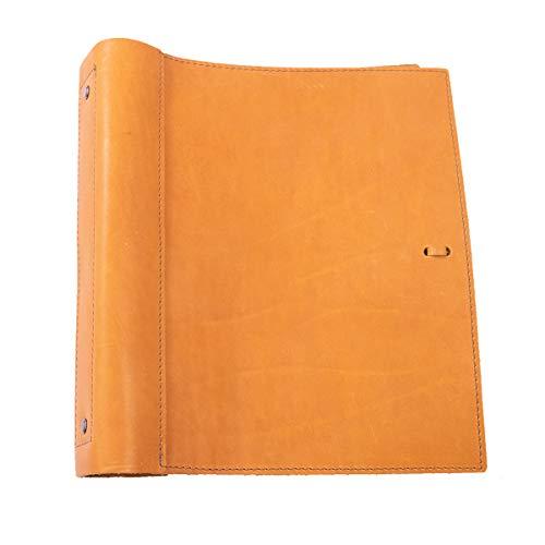 Weiches Ledermappe, handgefertigt von Rustico in den USA 1.5 Inch Rings Buckskin