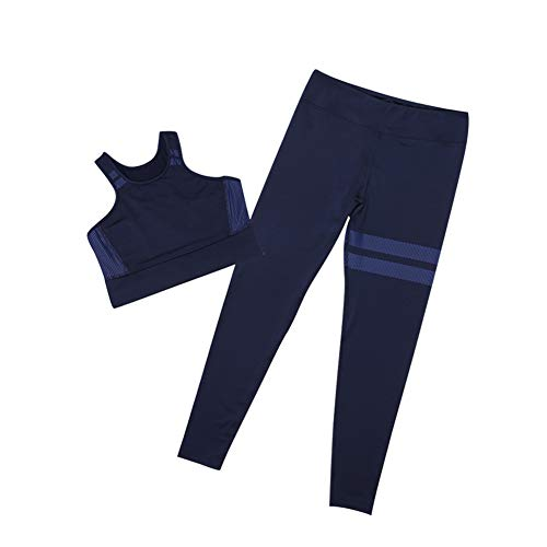 Gtagain Sportbekleidung Damen Yoga - Gymshark Sport-BH Crop Tops Hosen Elastizität Laufende Jogging Fitness Draussen Outfits Sportswear BH Set 2 Teile/Satz (Yoga BH + Leggings) -