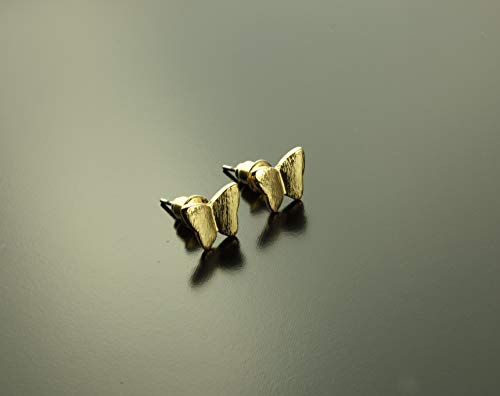 Ohrstecker Schmetterling golden Ohrringe Tier