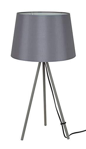 Solight Tischlampe Milano Tripod, Lampenstativ, 56 cm, E27, grau Stahl 60 W, Large