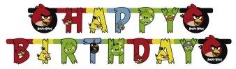 amscan NEU Girlande Happy Birthday Angry Birds 180 cm