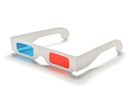Xiton 1Pcs Universal-Anaglyph Karton Papier Rot Blau Cyan 3D-Brille für Film-Spiele Origami Spielzeug