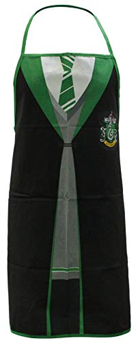 Harry Potter Apron Slytherin Half Moon Accessori Cucina (Slytherin Quidditch Uniform)