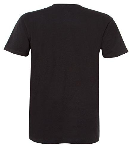 Unit T-Shirt Spin Peace Schwarz Schwarz