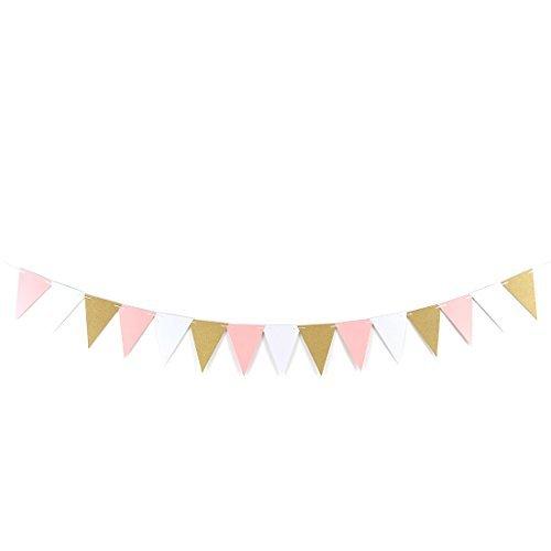 DealMux Geburtstags-Party-Dreieck geformt Karten Seil Hanger-Dekor Foto Prop Bunting Banner