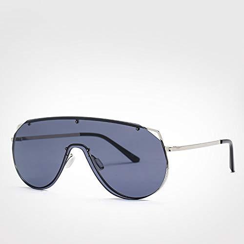 LXXSSRA Sonnenbrille Retro One Piece Shield Sonnenbrille Herren Fashion Trendy Randlose Übergroße Sonnenbrille Für Frauen Uv400 Gelb Sonnenbrille