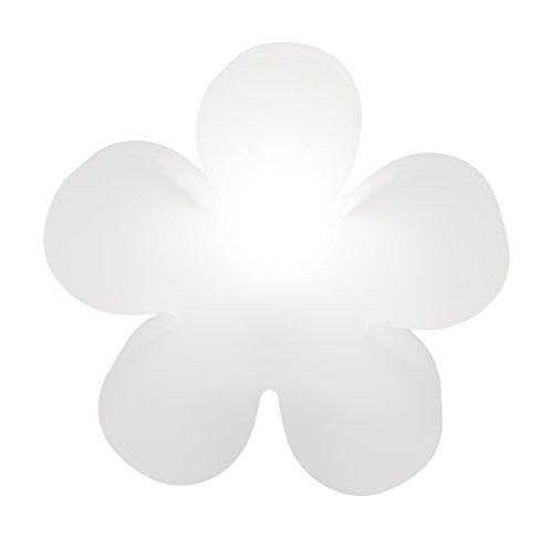 8 SEASONS DESIGN brillant fleur blanc 40 cm, lampe pour utilisation en extérieur, douille à vis Edison E27 Fluocompacte (CFL), 32404