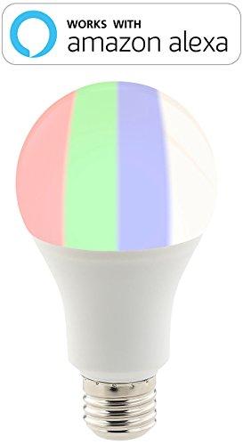 Luminea WiFi LED: WLAN-LED-Lampe, komp. mit Alexa Voice Service, E27, RGBW, 10 Watt, A+ (WLAN Leuchtmittel) - 9
