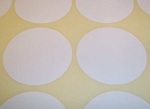 Audioprint Ltd. Pack of 60 Rond Points de code de couleur autocollants de prix vierges étiquettes autocollantes - Blanc, 45mm