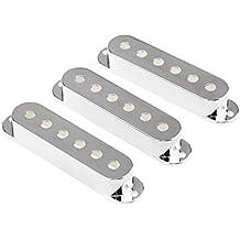 Musiclily 52mm Cubierta para Pastilla de Bobina Simple de Guitarra Eléctrica Estilo Strat, Cromo (