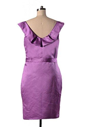 daisyformals encolure courte robe de demoiselle d'honneur en satin vintage robe de soirée (bm253) Rouge - #10-Dark Scarlet