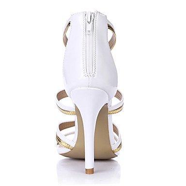 LvYuan Da donna-Sandali-Matrimonio Formale Serata e festa-Comoda-A stiletto-PU (Poliuretano)-Bianco White