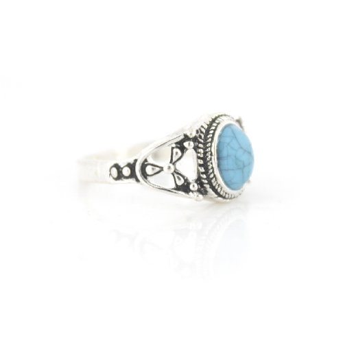 Blue Stone Ring Amazon Co Uk