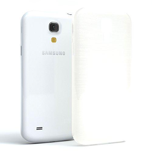 Samsung Galaxy S4 Mini Hülle - EAZY CASE Ultra Slim Cover TPU Handyhülle Matt - dünne Schutzhülle aus Silikon in Grün Brushed Weiß