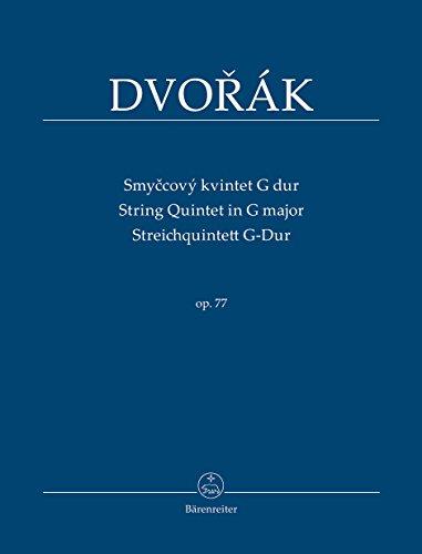 Streichquintett G-Dur (Smyccový kvintet G dur) op. 77: Studienpartitur