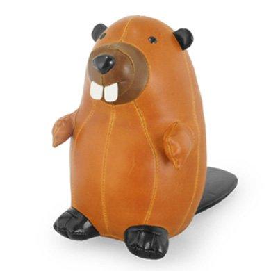 Züny Biber Briefbeschwerer klein braun (Beaver tan-Brown) -