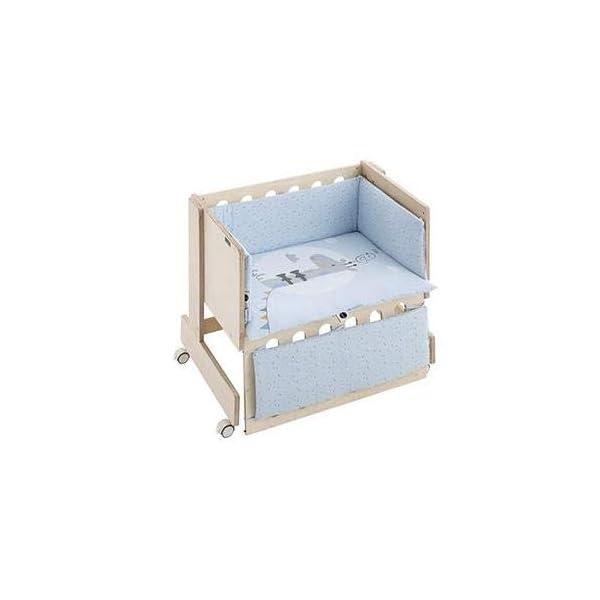 Bimbi Mini Cot Bimbi Casual baby bedroom. Cot bedroom. Natural mini bedspread 3