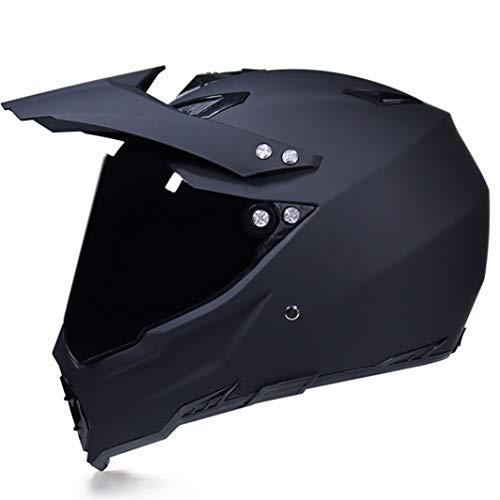 OLEEKA Männer Frauen Motocross Helm Full Face mit Brille Biegsame Reitbrille Klare Linse für Motocross, für Dirt Bike