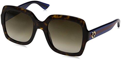 Gucci Damen GG0036S 004 Sonnenbrille, Braun (Avana/Brown), 54
