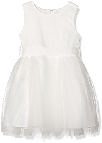 Happy Girls Mädchen Kleid Mia 564173, Knielang, Einfarbig, Gr. 146, Elfenbein (Ecru 11) (Mädchen Elfenbein Kleider)
