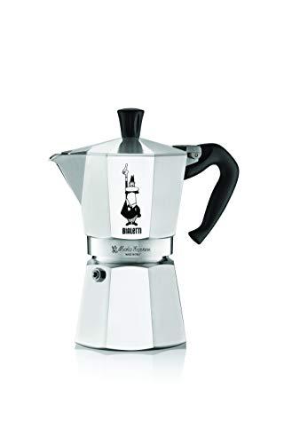 Bialetti Moka Express Espressokocher, Aluminium, metallic, 4 Tassen