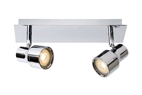 Lucide Foco de Techo LED - Sirena - Diámetro 10 Cm - LED DIM. - GU10 - 2 x 4,5 W 3000 K - IP44, metal, chrome, GU10...