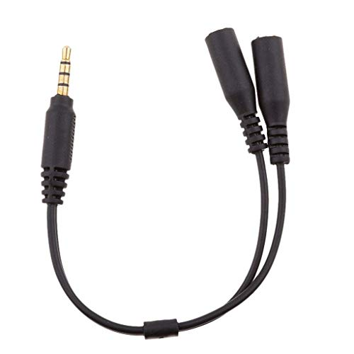 Aofocy 3,5 mm Micro Audio Combo Adapter für PS4, Xbox One, Tablet, Mobiltelefon, PC Laptop (Component-video-audio-combo-kabel)