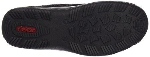 Rieker L0555 Damen Clogs Schwarz (schwarz/schwarz/schwarz / 00)