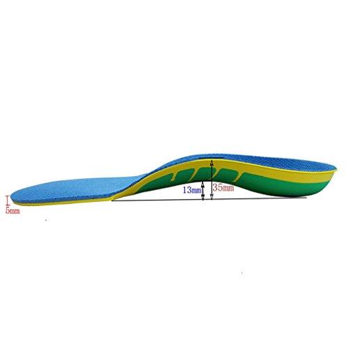 Coolmax-knöchel-unterstützung (Boowhol Orthopädische Einlegesohle Komfort Gel Einlegesohlen Regenbogen Fuß Valgus Korrektur Ideal für Plattfüße und Arch-Unterstützung (L / 41-46 EU))