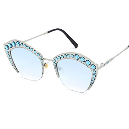 Z&HA Womens Crystal verschönert Sonnenbrille Glittered Metal Frame Fashion Eyewear UV400,05
