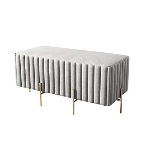 Haushaltsfußhocker Ottoman Square Hocker Modern Sofa Fußstützen | Gepolsterter Makeup Hocker | Wohnzimmerhocker Kinderbank, abnehmbare Metall 4-Beine, 2 Größen