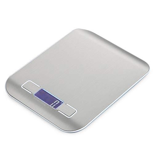 Tellabouu for 5000g / 1g, tragbare Edelstahlwaage, elektronische LCD-Display-Skala, Lebensmittelwaagen, Küchenwaage, Schmuckgewicht-Digitalwaage