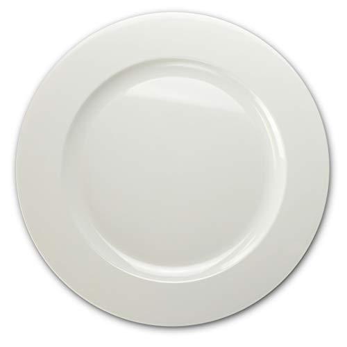 Anlässe 120PACK, schwerer Einweg Hochzeit Party Kunststoff Teller Extra Large Dinner Plate/Charger Plain White - Design Charger Plate