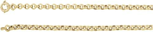 14 K Gelb Gold Hohl Rolo Kette Armband – 17,8 cm