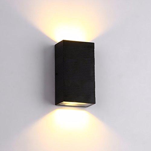 LED Lampe outdoor wasserdichte outdoor-Wand Licht Garten Wandleuchten, quadratische Halle Balkon leichte Bett Schlafzimmer Lampen,16 * 9 * 5,5 cm warm weiß 12W -