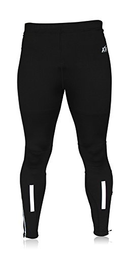 X31-Sports-Mens-Running-Tights-Cycling-Pants-Cold-Weather-Leggings-With-Zipper-Pocket-Black-Large