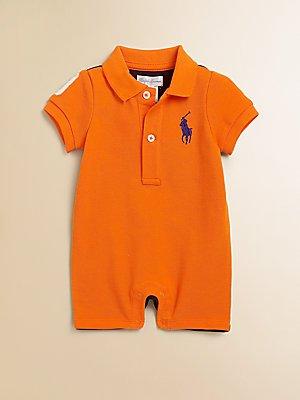 body-pagliaccetto-polo-ralph-lauren-bambino-arancione-3-mesi