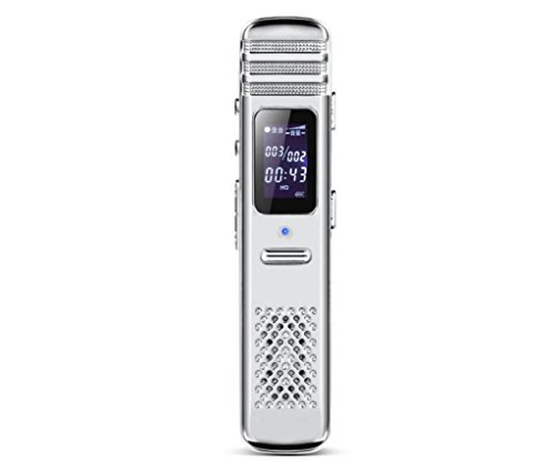 Digitale Diktiergeräte HD Lärm Reduktion Mini MP3-Player , white