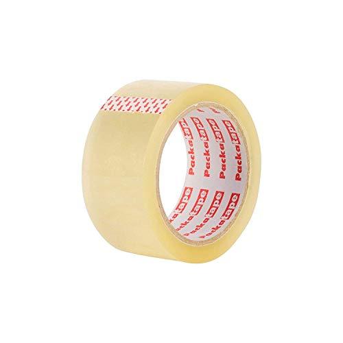 Packatape® — 6 Rollen 48mm x 66m transparent Paket-Klebeband für Päckchen und Kisten. Mit diesem 6er Pack hochleistungs-Klebeband erwerben sie ein sicheres, klebestarkes Verschlussmaterial für ihre Pakete auf das sie sich verlassen können. - 4