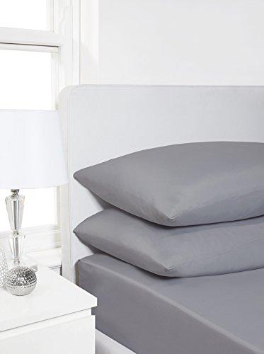 Impressions Fusion Bettwäsche-Set, wendbar, mit Bettdeckenbezug und Kissenbezügen, grau, Kingsize