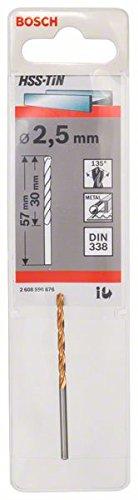 Bosch Professional Metallbohrer HSS-TiN (Ø 2,5 mm)