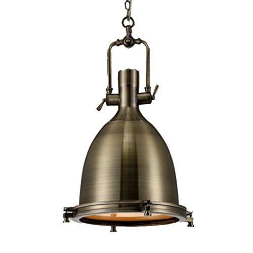 Industriemetall Kronleuchter,1-licht Vintage Loft Lüster,kücheninsel Hängeleuchte Nautische Antike Flush Mount Deckenleuchte Leuchte-bronze -