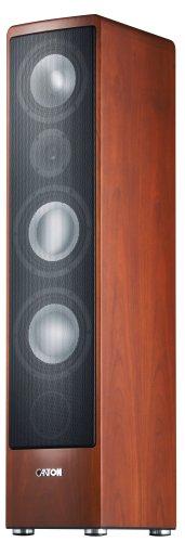 Canton Ergo 690DC 3-Way Bass Reflex Speaker Stands (170/320Watts Bi-Wiring/Bi-Amping with Plug and Play–Black